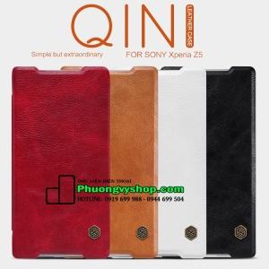 Bao da cao cấp hiệu Nillkin QIN series Sony Z5